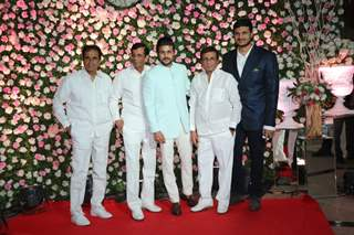 Abbas- Mustan with family at Kapil Sharma and Ginni Chatrath's Reception, Mumbai