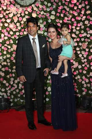 Chandan Prabhakar with his family at Kapil Sharma and Ginni Chatrath's Reception, Mumbai