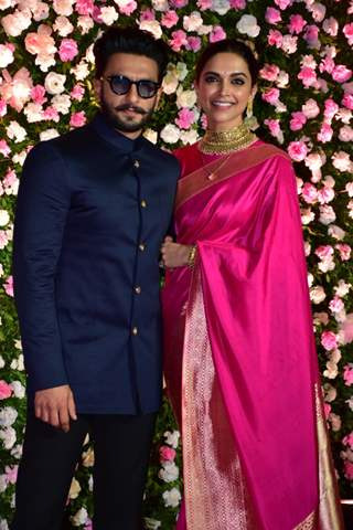 Ranveer Singh and Deepika Padukone at Kapil Sharma and Ginni Chatrath's Reception, Mumbai