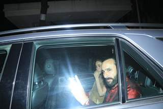 Saif Ali Khan and Kareena Kapoor at Saif Ali Khan House Christmas Party Pictures