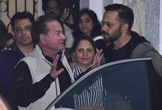 Salim Khan and Rohit Shetty attend the special screening of Simmba