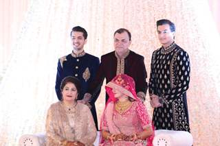 Mohsin Khan sister Zeba & Taha's Reception Pictures