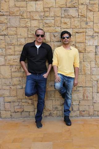 Akshaye Khanna and Director Vijay Gutte at The Accidental Prime Minister Promotions