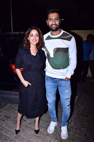 Vicky Kaushal and Yami Gautam snapped at URI screening