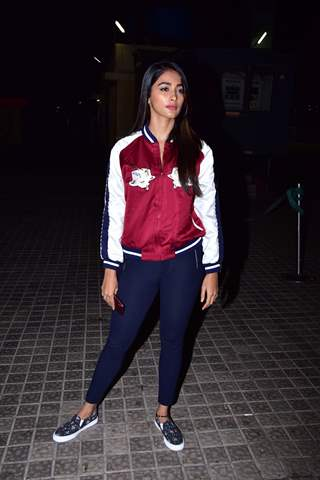 Pooja Hegde snapped at URI screening