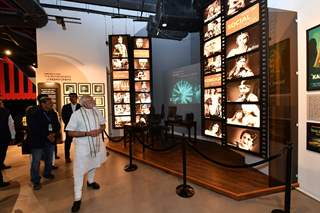 Prime Minister Narendra Modi snapped at The National Museum of Indian Cinema