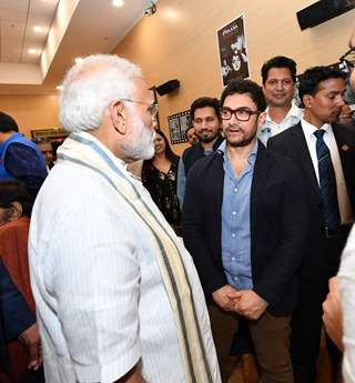 Prime Minister Narendra Modi and Aamir Khan snapped at The National Museum of Indian Cinema