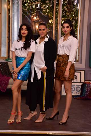Janhvi Kpaoor and Khushi Kapoor at Neha Dhupia's BFF with Vogue