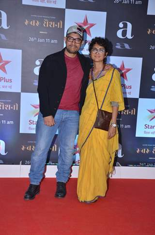 Aamir Khan and Kiran Rao snapped at Rubaru Roshni screening