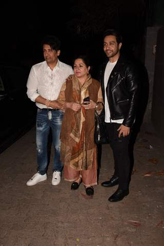 Shekhar Suman and Adhyayan Suman spotted at Thackeray movie screening
