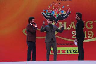 Anil Kapoor, Rajkummar Rao and Manish Paul at Umang Event