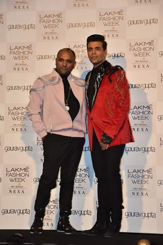 Karan Johar at Lakmé Fashion Week Opening Show