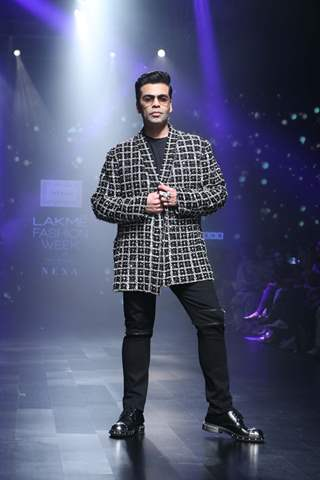 Karan Johar snapped at Lakme Fashion Week
