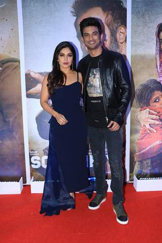 Bhumi Pednekar and Sushant Singh Rajput of Sonchiriya at the trailer launch
