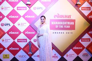Deepika Padukone snapped at Lokmat Awards