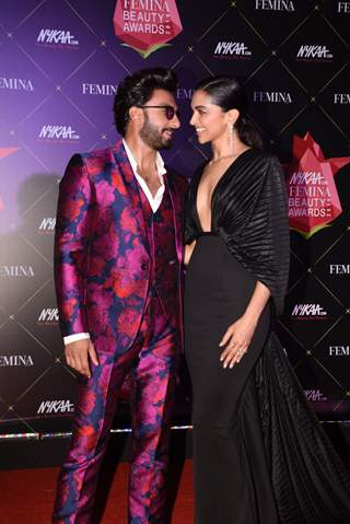Deepika and Ranveer at Nykaa Femina Beauty Awards 2019