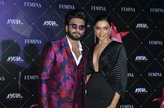 Ranveer and Deepika at Nykaa Femina Beauty Awards 2019