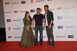 Pranutan Bahl and Zaheer Iqbal at the trailer launch of Notebook