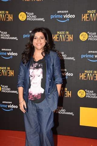 Bollywood filmmaker Zoya Akhtar at the screening of 'Made in Heaven'!