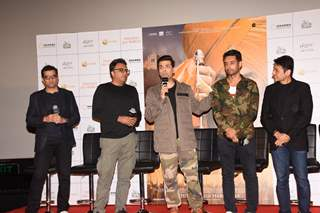 Karan Johar and Anurag Singh at Kesari Press Conference