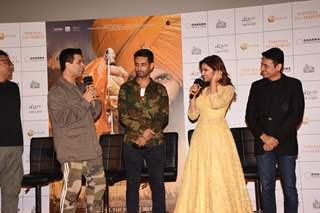 Karan Johar, Anurag Singh, Parineeti Chopra at Kesari Press Conference