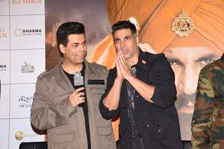 Karan Johar and Akshay Kumar at Kesari Press Conference