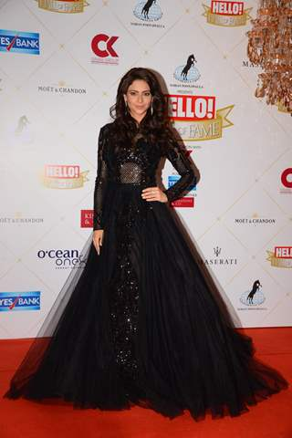Aamna Shariff at the Hello Hall of fame awards!