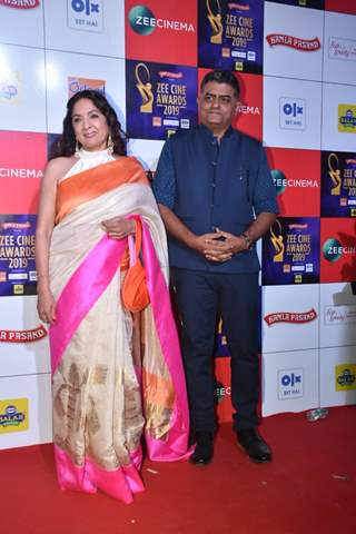 Neena Gupta and Gajraj Rao papped at Zee Cine Awards!