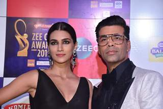 Karan Johar and Kriti Sanon papped at Zee Cine Awards!
