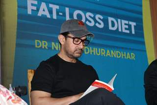 Aamir Khan snapped at a Book Launch