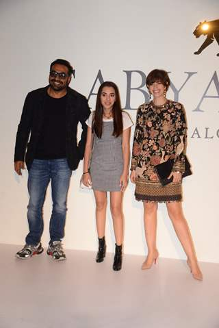 Kalki Koechlin with Anurag Kashyap and his Daughter Aaliyah Kashyap at Sabyasachi's success bash!