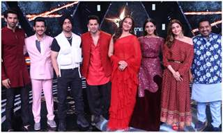 The cast of Kalank at the sets of Rising Star season 3!