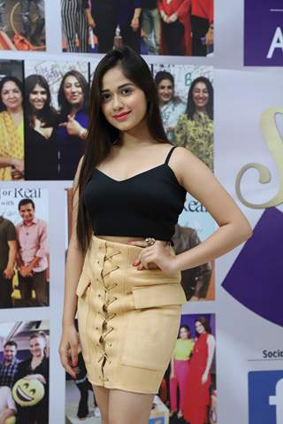 Jannat Zubair Rahmani snapped at the launch of Reel or Real season 3