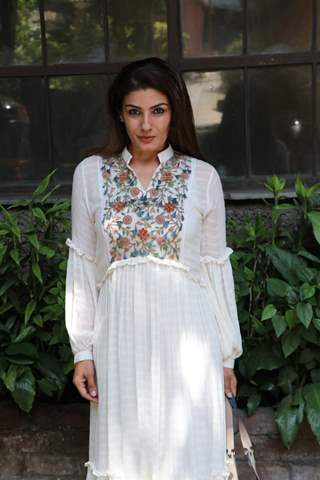 Raveena Tandon spotted posing for a picture