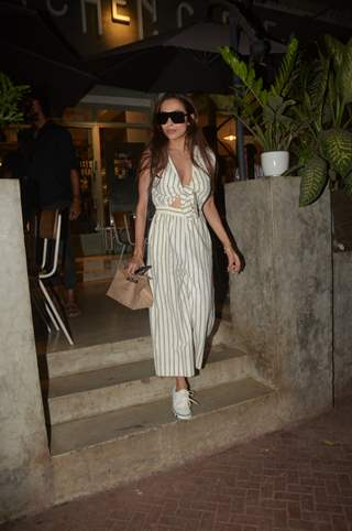 Malaika Arora spotted outside a famous eatery in the town