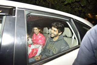 Sara Ali Khan with Kartik Aaryan snapped after the shoot of Love Aaj Kal 2