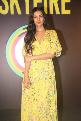 Sonal Chauhan snapped at the Press Conference of Zee5 original's Skyfire