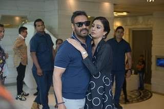 Ajay Devgn with Tabassum Fatima Hashmi  spotted at De De Pyar De promotions
