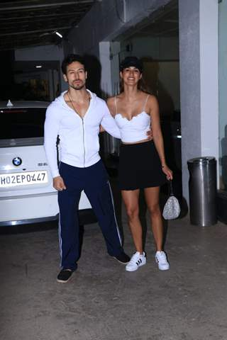 Tiger Shroff with Disha Patani spotted around the town