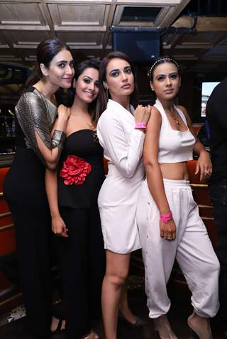 Karishma Tanna, Anita, Surbhi Jyoti and Nia Sharma snapped at Anita Hassanandani and Pearl Puri's  song launch