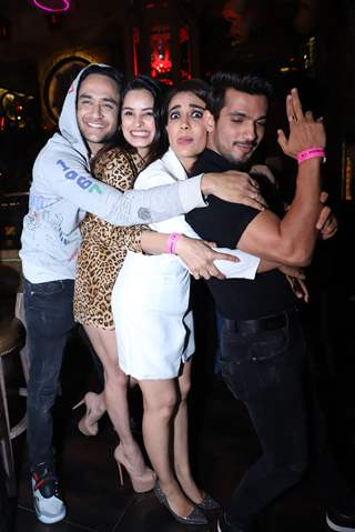 Arjun Bijlani with China, Surbhi, Vikas snapped at Anita Hassanandani and Pearl Puri's song launch