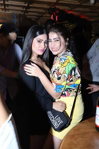 Krishna Mukherjee with Aditi Bhatiya  snapped at Anita Hassanandani and Pearl Puri's song launch
