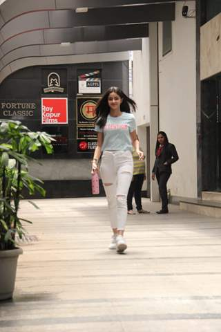 Ananya Pandey spotted hitting the gym.
