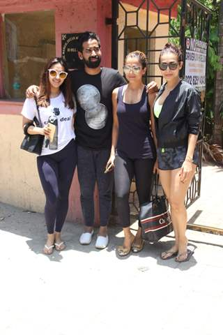 Malaika Arora , Amrita Arora spotted hitting the gym.