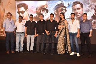 Bharat Team posing at Bharat song launch