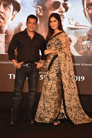 Salman Khan with Katrina Kaif at Bharat song launch