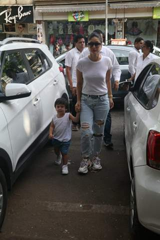 Taimur Ali Khan Pataudi with mommy Kareena Kapoor Khan spotted around the town