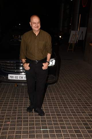 Anupam Kher snapped at special screening of India's Most Wanted.