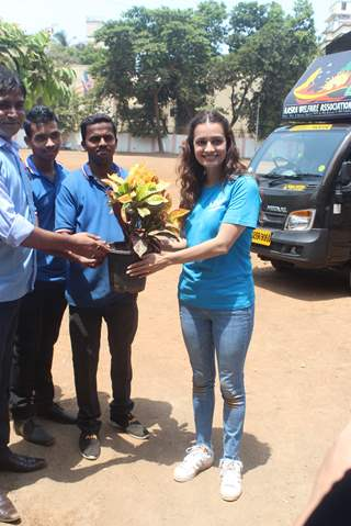 Dia Mirza snapped at a school celebrating World Environment Day