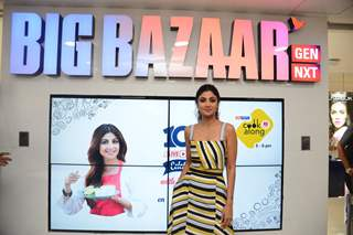 Shilpa Shetty snapped while visiting Big Bazaar for an event